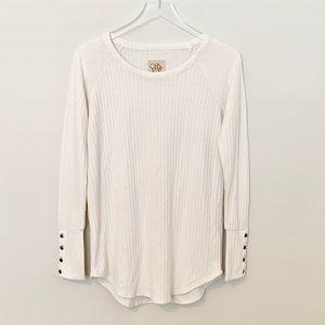 Chaser   White Waffle Know Thermal Shirt